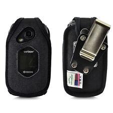 DuraXV LTE Verizon E4610 FITTED CASE Black Nylon Removable Belt Clip Holster