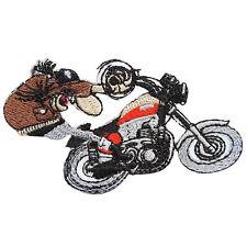Wheelie Wheel Pops Racing Classic Motorcycles Biker Rider Iron-On Patches #B119