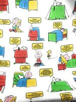 Peanuts Sheet Sleep Theme Snoopy Charlie Lucy Linus Schultz Twin Flat 1971