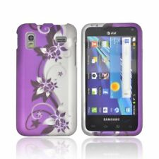 For Samsung Captivate Glide i927 Rubberized HARD Case Snap Cover Purple Vine