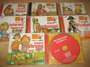 CD 8 Stück Ich weiss was Albert E. erklärt Nahrung - Schatzsuche - Hobbys usw.
