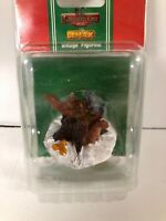 New Coventry Cove LEMAX CHRISTMAS VILLAGE Figurine -QUIRREL Chipmunk TREE STUMS