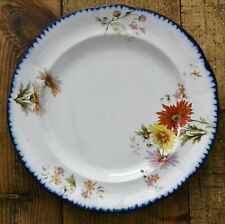 More details for antique victorian maling plate early ctm impressed mark floral pattern 24cm