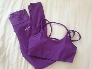 Echt Set Leggings And Sports Bra Purple Size XS
