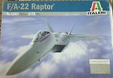Italeri F/A 22 Raptor Plane 1:72 scale Model Kit #1207 SEALED!!!