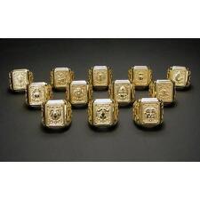 Saint Seiya Gold Cloth Box Design Ring Aries Taurus Gemini Anime Jewerly 65C