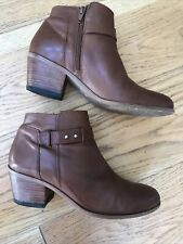 Ladies White Stuff Tan Leather Ankle Boots UK 6