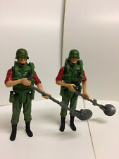 x2 GI Joe Action Force Z Force Minesweeper Complete Army Figure