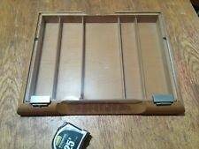 "Portable Glass and Wood Countertop Display Case 18""W x 14""L x 2""H"