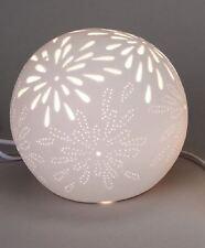 658715 Lampe Aurea Blume Kugel 16cm Weiss NEU