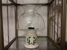 Clear Glass Dome Globe Hurricane Oil Lamp Holiday Candlelight Holder