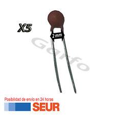 5X Condensador ceramico 220 pF 50V 2mm