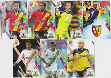 PANINI FOOTBALL 2014 2015 ADRENALYN CARDS LOT DE 7 CARDS GAME RACING CLUB LENS