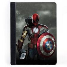 Captain America Shield SPIDER MAN IRON MAN Portefeuille Tablette Étui en cuir