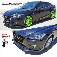Mazda 3 2017 2018 body kit Front lip spoiler Lenzdesign Performance