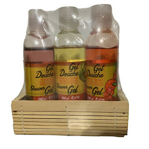 Creole Fruits & Passion Shower Gel Gift Set Mango-Cherry Orange-Cantaloup 3 Pk