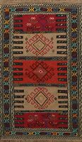 Geometric Traditional Kilim Area Rug Tribal Hand-Woven Home Decor Carpet 4x6 ft