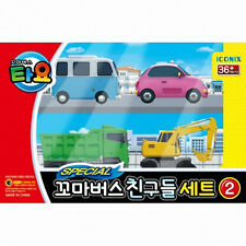 Little Bus TAYO's Special Edition 4 pcs car Toy -Bongbong Heart Poco Max -Track