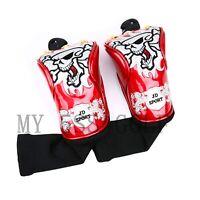 2pcs/pack Skull Golf Hybrid Head Cover Crystal Leather Red Blue White Black