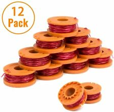 12PCS WORX WA0010 Replacement Spool Line For Grass Trimmer/Edger,10ft 12 Pack 3M