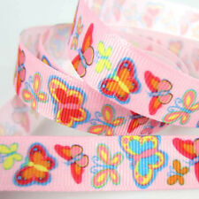 """10yards 5/8"""" Printed Butterfly Grosgrain Ribbon 15mm Ribbon bow craft packing"""
