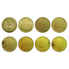 China BEIJING OLYMPIC coins, 1 Yuan × 8 pcs set, 2008, COMM. UNC