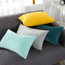 2X Throw Pillowcase Velvet Cover Solid Square Soft for Couch Bed Sofa Home Decor