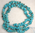 """Turquoise Nugget Loose Gemstone Beads Natural Blue Colors 5 to 7mm 16"""" Std # 932"""