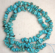 "Turquoise Nugget Loose Gemstone Beads Natural Blue Colors 5 to 7mm 16"" Std # 932"