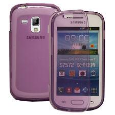 Housse Coque Etui Portefeuille Livre VIOLET Samsung Galaxy Trend S7560