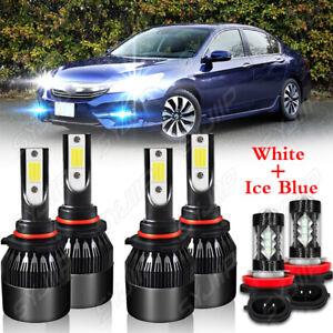 For Honda Accord 2006 2007 2008-2009 2010 2011 2012 LED Headlight Fog Lamp Bulbs