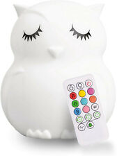 Led Nursery Owl Night Light for Kids Cute Animal Silicone Baby Night Light