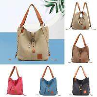 Casual Women's Convertible Large Capacity Tote Shoulder Bag Canvas Backpack Gift