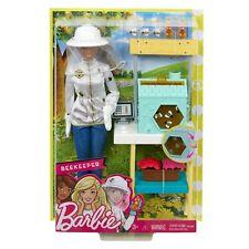 Barbie Careers Beekeeper Doll and Beehive Bees Playset Brunette Hair New