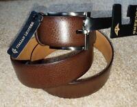 NWT Men's Belt Dockers 100% Genuine Italian Leather - Brown   Sizes 38 - 42