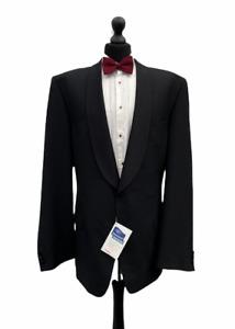 Mens Tuxedo Dinner Suit Jacket Chest 46 Long Black Formal Cruise Party  P236