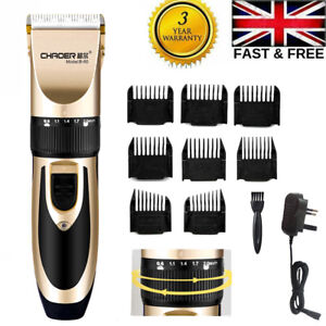 Electric Hair Clippers Trimmer Cutting Machine Cordless Beard Mens Shaver UK