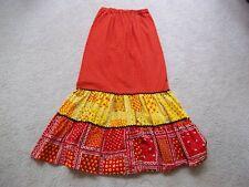 "Vtg Womens S 60's 70's BoHo Chic Hippie Bandanna Patchwork Floral Maxi Skirt 24"""