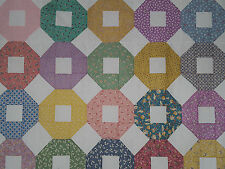 Unfinished Quilt Top-Assorted Colored Octagons#3, approx 60 x 72