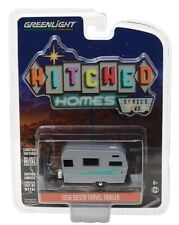 Greenlight 1958 Siesta Travel Trailer Hitched Homes 1:64 Silver 34020-A