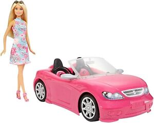 Mattel Barbie Doll and Glam Convertible