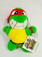 TMNT Teenage Mutant Ninja Turtles Raphael Plush Doll TAKARA Japan 1992 TAG 6.5""