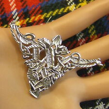 new sterling silver celtic guardian dragon brooch