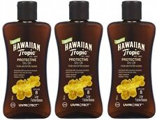 3 x 100ml Hawaiian Tropic Protective Dry Oil SPF 8 Low Factor Mini Travel Size