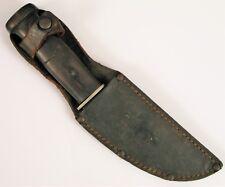 ANTIQUE OLCUT UNION CUT CO OLEAN NY FIXED BLADE KNIFE W ORIGINAL SHEATH RARE WOW
