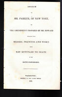 Prentiss & Word Not Entitled to Seats in the 25th Congress 1838 booklet