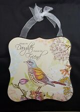 Wall Art Plaque Wood Sign Bird Inspiration Always my Daughter Forever my Friend