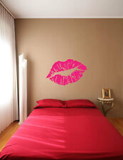 Kiss me Good night Lovely Love Lips Party Wall Window DECAL VINYL Sticker