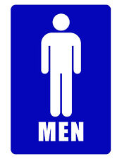 Bathroom Sign..MENS ROOM SIGN Durable Aluminum NO RUST SIGN FULL COLOR D#143