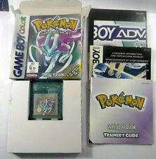 Pokemon Crystal Version Nintendo GameBoy Colour Complete Game Boy